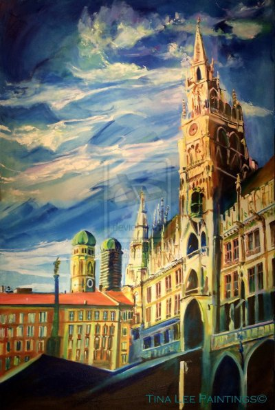 """Click Here to order a Print of """"Marienplatz Tower"""""""