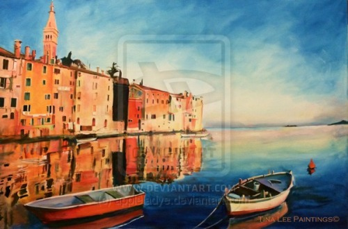 """Click Here to Buy a Print of """"Rovinj at Dusk"""""""