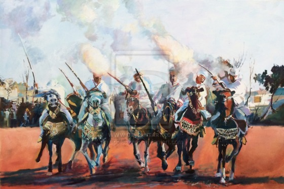 """Click Here to order a Print of """"Morrocan Tissa Horse Festival"""""""