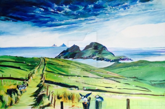 """Click Here to Order a Print of """"Puffin Island from Ring of Kerry"""""""
